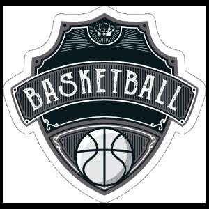 Sweet Basketball Badge Sticker