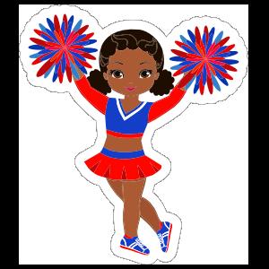 Sweet Cheerleading Sticker