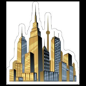 Sweet City Comic Sticker