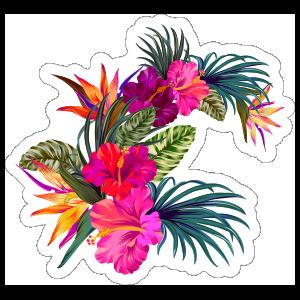 Sweet Hibiscus Flower Sticker