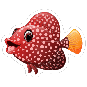 Sweet Red Fish Sticker