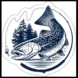 Sweet Trout Fishing Sticker