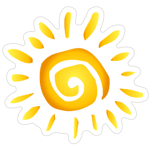 Swirly Sun Sticker