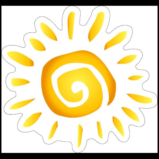 Swirly Sun Sticker