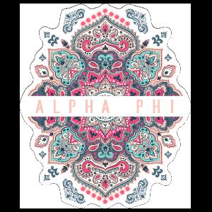 Symmetrical Alpha Phi Sticker v2