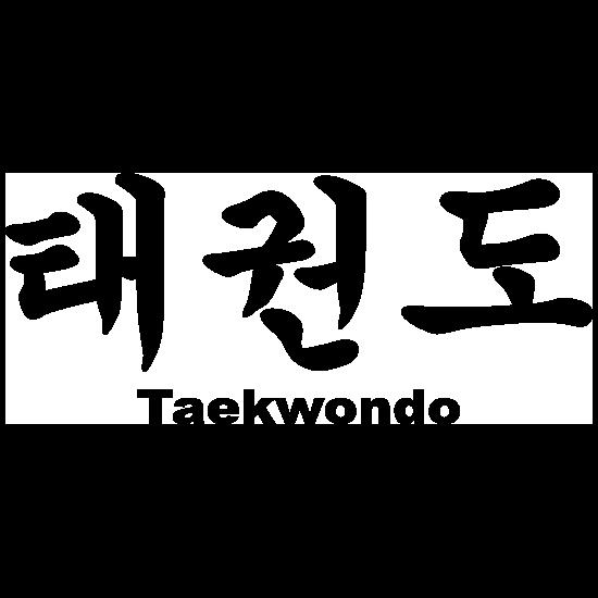Taekwondo Korean Lettering Sticker