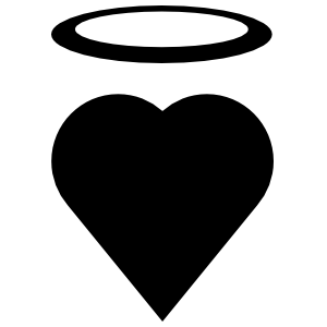 Tall Angel Heart Sticker