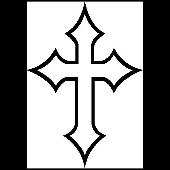 Tender Cross Outline Sticker