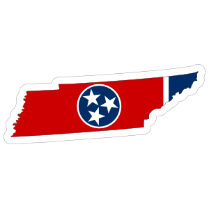 Tennessee Flag State Sticker