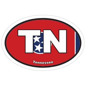 Tennessee Tn State Flag Oval Sticker