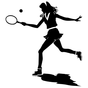 Girl Tennis Player Sticker