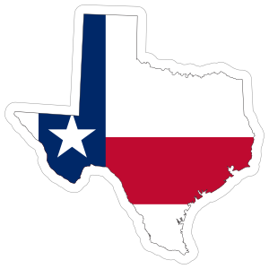 Texas Flag State Sticker