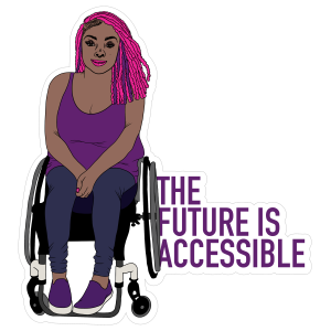 The Future Is Accessible Sticker