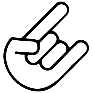 The Horns Sticker