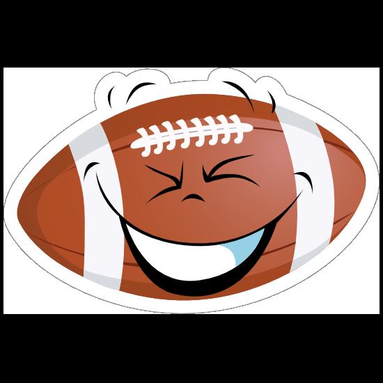 Thrilled Cartoon Football Sticker