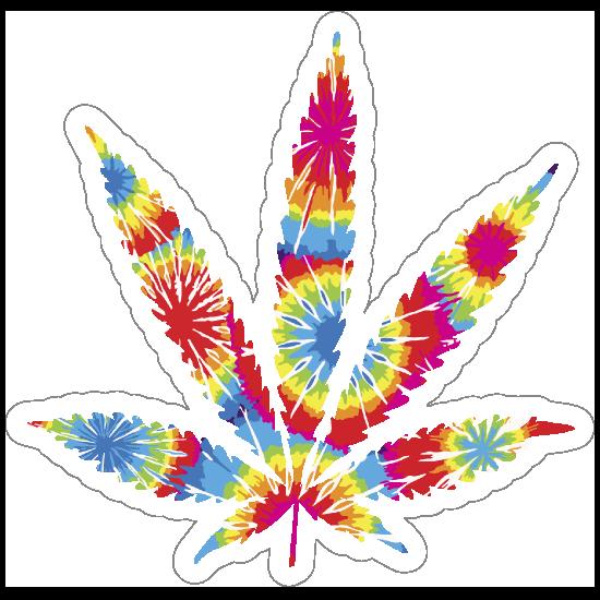 Tie Dye Pot Leaf Hippie Sticker
