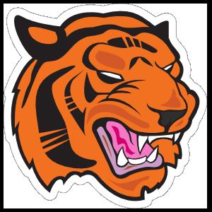 Tiger Head Mascot Sticker