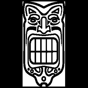 Tiki With Big Teeth Sticker