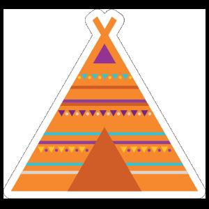 Tipi Hippie Sticker