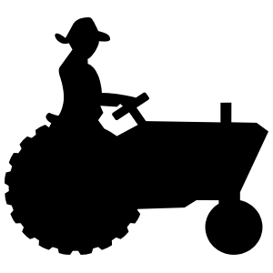 Tractor With Farmer Sticker