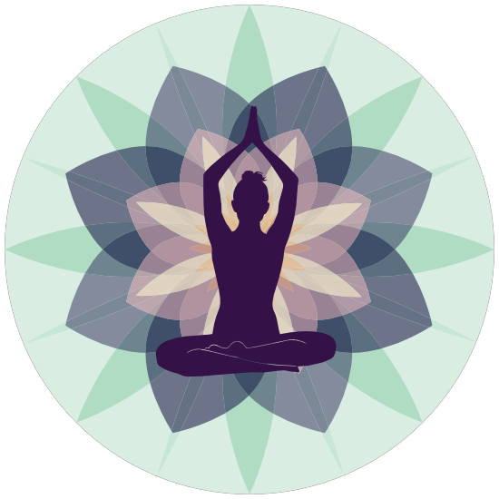 Tranquil Yoga Circle Sticker