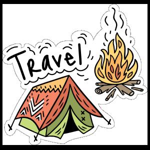 Travel Camping Sticker