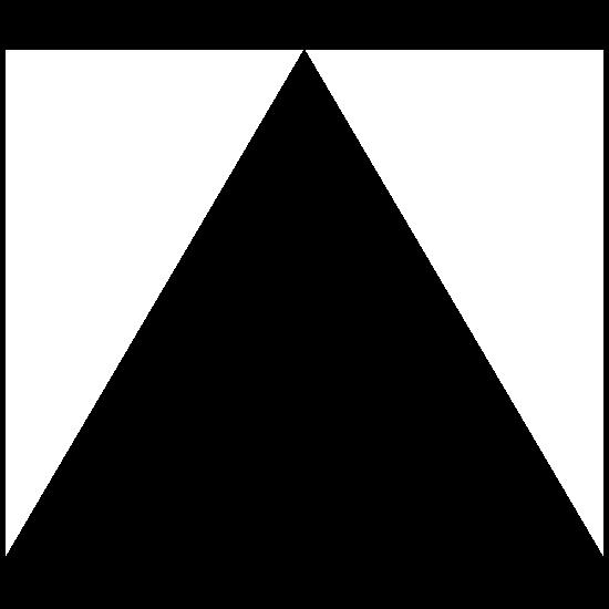 Triangle Shape Sticker