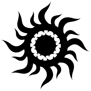 Tribal Sun Inside Sun Sticker