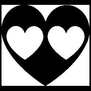 Triple Heart Sticker