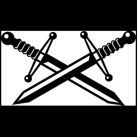 Two Crossed Swords Sticker