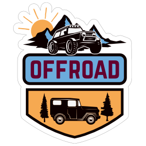 Two Vehicle Off Road Sticker