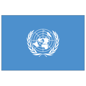 United Nations Flag Sticker