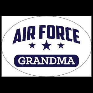 US Air Force Grandma Oval Sticker