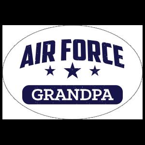 US Air Force Grandpa Oval Sticker