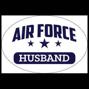 US Air Force Husband Oval Sticker