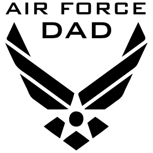 US Air Force Logo Dad Sticker