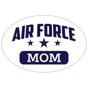 US Air Force Mom Oval Sticker