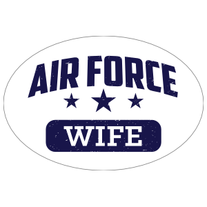 US Air Force Wife Oval Sticker