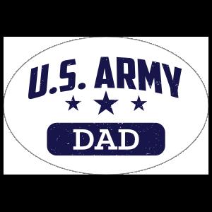US Army Dad Oval Sticker