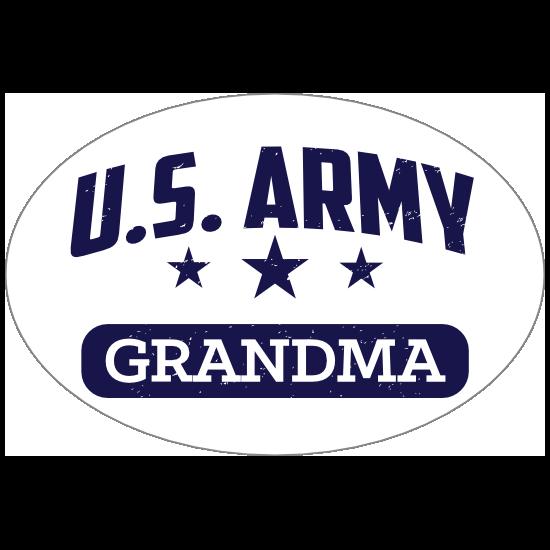 US Army Grandma Oval Sticker
