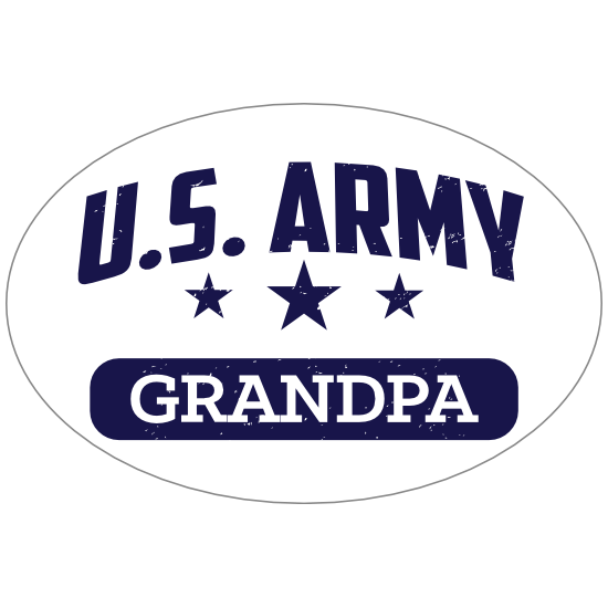 US Army Grandpa Oval Sticker