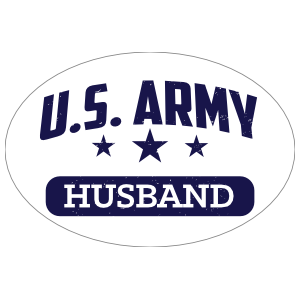 US Army Husband Oval Sticker