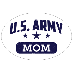 US Army Mom Oval Sticker