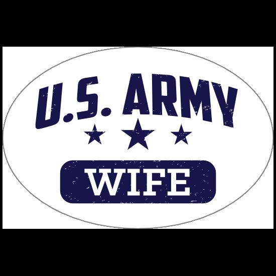 US Army Wife Oval Sticker