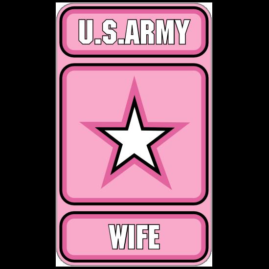 US Army Wife Pink Sticker