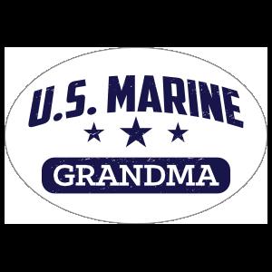 US Marine Grandma Oval Sticker