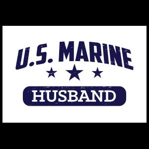 US Marine Husband Oval Sticker