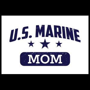 US Marine Mom Oval Sticker