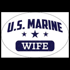 US Marine Wife Oval Sticker