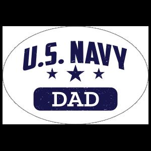 US Navy Dad Oval Sticker